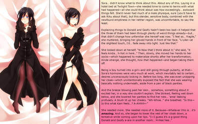 Wrapped in Black (2) [Sora to Xion TF/TG] by FieryExplosion