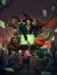 Dibujados Halloween - Cover Art by FlavioGreco