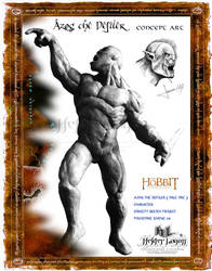 Azog the Defiler - Concept Statue Diorama Image:01 by Weapon-X-1973