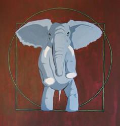 Vitruvian Elephant by elihaun