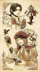 Ezio and Leonardo by Hinoe-0