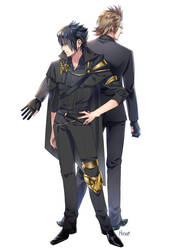Noct and Ignis by Hinoe-0