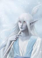 Dark Elf Ice Wizard by Erulisse2