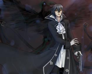Black-Winged Raven by Erulisse2