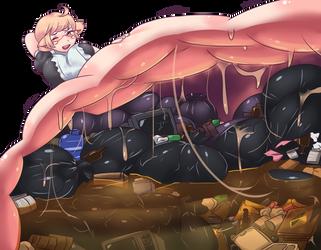 Oops the bin got full [colouring] by Jyles-Jin