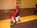 Another Anime Con 2011 - Deadpool on a Scooter 5 by VideoGameStupid