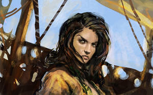 Pirate's girl speedpainting by CyrilT