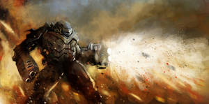 Robot war speedpainting by CyrilT