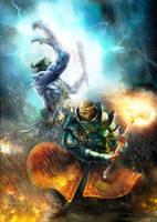 Finish him. Warhammer illustr by CyrilT