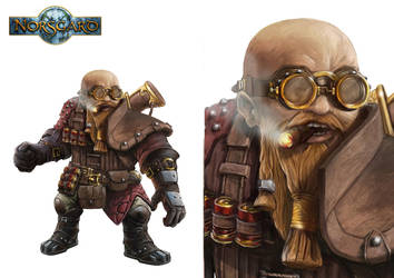 Dwarf character design by CyrilT