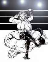 Jessy vs. The Champ by Davros77