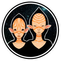 Intergalactic siblings by DaumierSmith