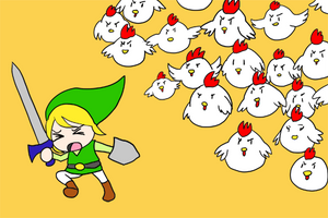 o Link vs Chickens o by khiro