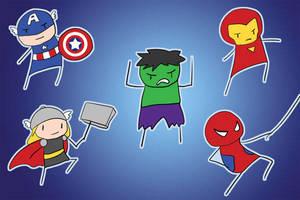 o Avengers Chibis o by khiro