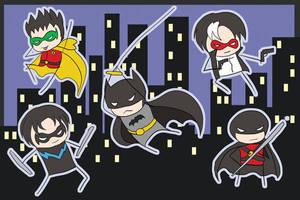 o Batman Chibis o by khiro