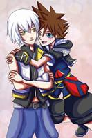 Riku and Sora by khiro
