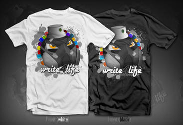 t-Shirt Design - Write4life by TwiCeArts