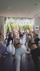 Peyton List doing yoga. by Goddessgg