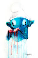 Guilty Smurf by alexpardee