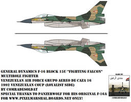 Venezuelan F-16A block 15U Fighting Falcon by Comradesoldat