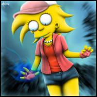 Lisa has powers by syke-ink