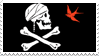 Captain Jack Sparrow flag stamp by Narucid