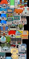 Pokemon BW2 - Buildings by shiney570