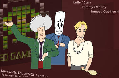 Drawn LucasArts Trio by Ockeroid