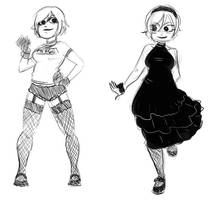 Ramona Flowers Sketches by Caden13