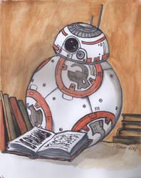 BB-8 Reading by silene-acaulis