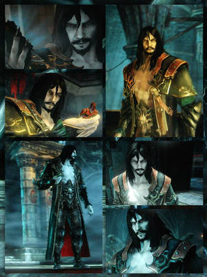 Armored  Dracula - Catlevania Los2 collage by Draculard