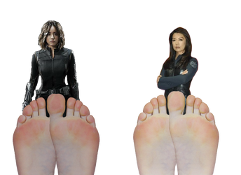 Daisy Johnson and Melinda May's Feet by BillyBonko