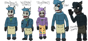 FNaF OC-One of these things is not like the others by hammyhammy22