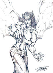 OldStuff: Demon sketch by VAXION