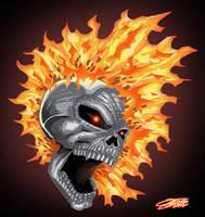 GHOST RIDER skullshot by VAXION