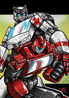 Ironhide and Ratchet by Colza666