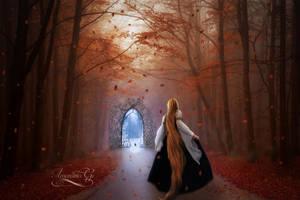 Walking the autumn by Amaranta-G