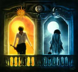 The sun and the moon by Amaranta-G