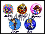 Buttons: Star Set 1 by Bunnygirle26