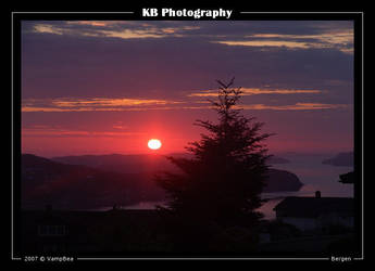 Sunset from Sotra by VampBea