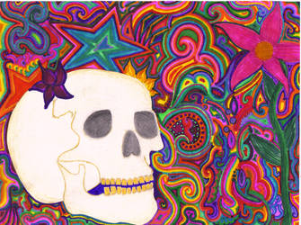 Skull Color by befearless247