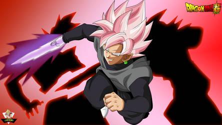 Black Goku the killer of the 12 gods by lucario-strike