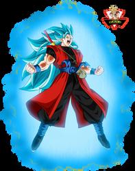 Goku Xeno Ssj3 Blue by lucario-strike