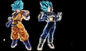 Goku y Vegeta SSJBLUE MOVIE 2018 by lucario-strike