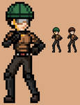 One Punch Man Mumen Rider Sprite by LEANBOOX