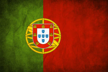 Portugal Grunge Flag by think0