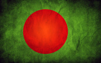 Bangladesh Grunge Flag by think0