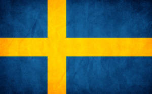 Sweden Grunge Flag by think0