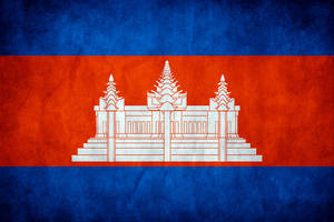 Cambodia Grunge Flag by think0