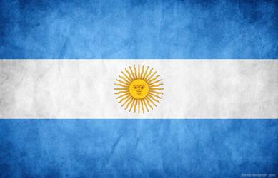 Argentina Grunge Flag by think0